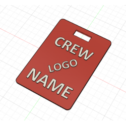 Crew Tag 3D - Red