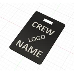 Crew Tag 3D - Black