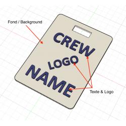 Crew Tag 3D - White