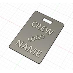 Crew Tag 3D - Grey