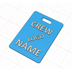 Crew Tag 3D - Light blue