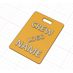 Crew Tag 3D - Yellow